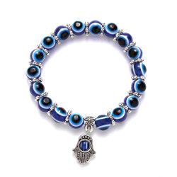 Fashion Blue Eyes Armband Evil Turkish Glass Beads handgemaakte elasticiteit Armband sieraden voor vrouwen