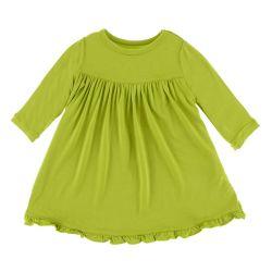 Super Soft-UV основные Classic Long втулки поворотного платье для девочек