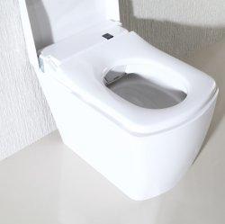 Aqueça a regulação do banco Auto Limpeza do quadril lavabo água morna Lave o assento do vaso com luz noturna