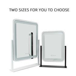Top Vendedor Espelho Retrovisor Exterior de vidro Retângulo Travel espelho com luz LED de maquilhagem