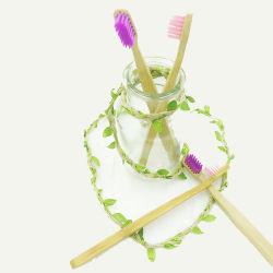 إمداد الفندق بامبو طبيعي قابل للتحلل البيولوجي اعتماد مصنعي المعدات الأصلية (OEM) مستخدم يوميًا فرشاة الأسنان
