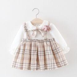 El algodón personalizado traje de falda niña vestido de bebe