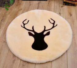 Faux-Kaninchen-Pelz-Wolldecke-Fußboden-Shaggy Bereichs-Wolldecken für das Wohnzimmer-Schlafzimmer dekorativ