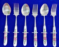 Super calidad profesional Picnic cuchara tenedor vajilla titanio puro