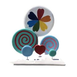 漫画の特性の手は販売のための樹脂 Lollipop の彫刻を作った