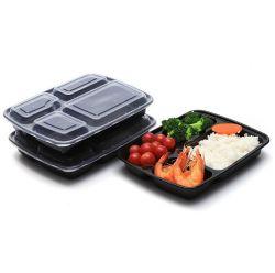 4 отсеков обед Bento окне Питание Prep продовольственной контейнер, BPA Бесплатные пластиковые PP в микроволновой печи пластиковые контейнеры