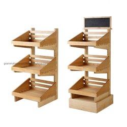 Промышленные стеллажи 3 уровня розничной торговли деревянные заморожен подставка для дисплея дисплей дела