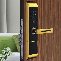 Aleación de zinc Apartamento inteligente tarjeta RFID de bloqueo de puertas inalámbrico