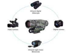 P15s Infrarotbereich-Jagd-Teleskop-lange Reichweite der Nachtsicht-Monocular 5X 40 Infrarotdigital mit eingebauter Kamera