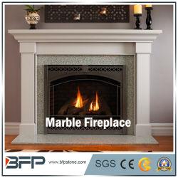 カスタマイズされたデザイン支えがなく白い大理石の暖炉の装飾