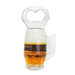 Apri di bottiglia della tazza di birra con l'apri della bottiglia da birra del magnete del frigorifero