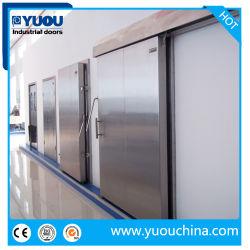 Almacenamiento en frío de acero inoxidable automática Cámara Frigorífica puerta corredera para fábrica de alimentos y medicamentos