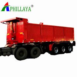 Caixa lateral de descarga e transporte de cargas reboques fechados