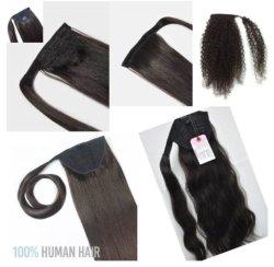 """18"""" Ponytails Реми волос естественный цвет прямо волнистые заводе оптовая торговля"""