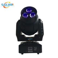 新しい 3pcs 40W 4in1 RGBW LED 可動ヘッドライトミニビーアイライト