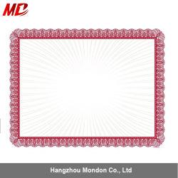 Usine de papier A4 Certificat dans le certificat de couvrir de papier de couleur imprimée