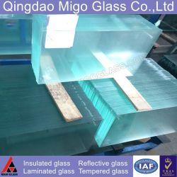 Substrato de vidro térmico clara Espelhos Solares