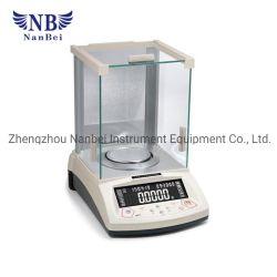 El uso de laboratorio de análisis eléctrico el equilibrio de peso con la pantalla LCD