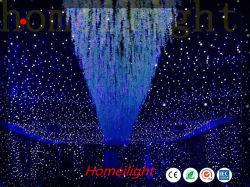 Prix de gros chiffon LED couleur unique Démarrer/LED Rideau en étoile