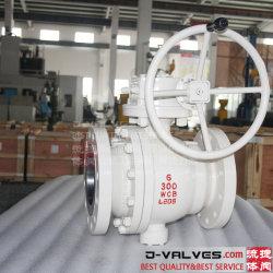 API6d 2PC 탄소 강철 또는 주철강 또는 스테인리스 플랜지 끝 종류 150/300lb 산업 공 벨브 J 벨브
