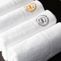 Fabricante de algodão branco Bordado Personalizado Hotel toalhas de banho