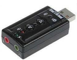 USB 7.1 Adaptador de audio estéreo de tarjeta de sonido externa