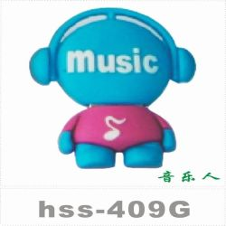 De nouveaux produits de la musique en PVC Garçon lecteur Flash USB 2.0