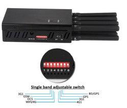 8 bandes ordinateur de poche portable Mini brouilleur de signaux RF de téléphone mobile