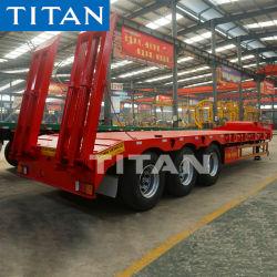 3 80 tonnes d'essieu à utilisation intensive du chargeur/Col de cygne Lowbed/ Faible Faible Lowboy lit semi-remorques de camion remorque