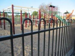 Antique Parrilla de aluminio o acero Corten valla de jardín de metal