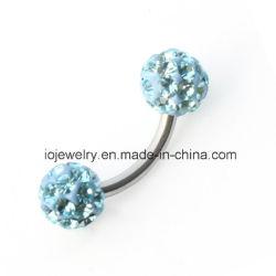 Хирургическая сталь украшения Custom Crystal шарик пупка кольцо