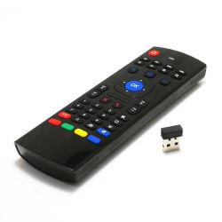 Mx3 Air Mouse Telecomando retroiluminado de voz inteligente Mx3 2.4G teclado sem fios a aprendizagem de infravermelho para Caixa de TV Android T9 H96 Max X96 Mini