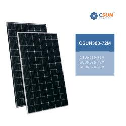 Moudle 72 celdas solares de alta eficiencia de 370W 380W a 390W para el sistema de panel solar