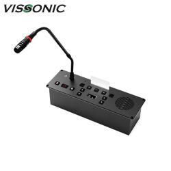 مناقشة شاملة تركيب Vissonic + 5 مفاتيح للتصويت 64 قناة تحديد الميكروفون وشاشة OLED للترجمة الشفوية مع الزر المادي