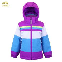 Цветные полосы детские зимние куртки лыж
