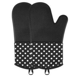 Cuoio resistente dei guanti del BBQ di alta qualità con termoresistente