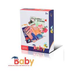 Les nouveaux arrivants Bébé doux de tissu pour l'éducation Dinosaures jouets livre pour livre chiffon Wholsale