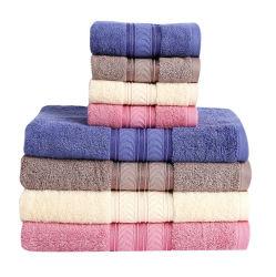 O logotipo personalizado Hotel 5 Estrelas Soft 100% Orgnic Conjunto de toalhas de banho de algodão 70*140
