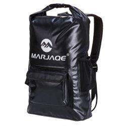 حقيبة سفر خفيفة الوزن سعة 22 لتر مزودة بترس يحافظ على الترس حقيبة ظهر مقاومة للماء جافة مع كيس ماء