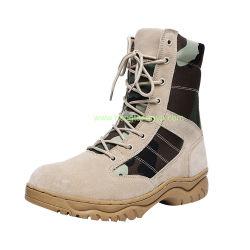 Bon marché occasionnel des hommes forts de la cheville en daim dentelle semi cochon d'injection désert bottes militaires avec double couture pour Cowboy