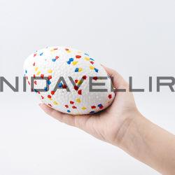Rubber Toy Rugby voor Bite Pruducts gemaakt van nieuw materiaal E-TPU Mondriaan-serie