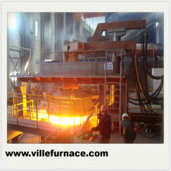 Ferro-Alloy Industrial Forno Refinação forno eléctrico de arco para a Usina Siderúrgica 100t Fabricação de fornos
