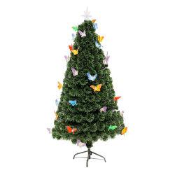 9' de decoración del árbol de Navidad Árbol de Navidad Árbol de fibra óptica con luz LED