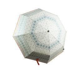 실버 UV 코팅 패브릭이 있는 수동 접이식 우산