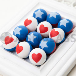 쾌활한 공, 점프볼, 고무 공, 크리스마스 선물, Vending 장난감, 사랑 및 별