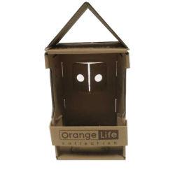 パッキングのための木製の家様式の波形のペーパーギフト箱