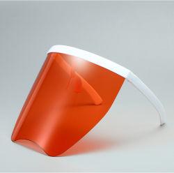 Visiera di plastica facciale di vetro di Eyeshield del PC della visiera di modo su ordinazione di grande misura protettivo esterno della visiera per l'adulto