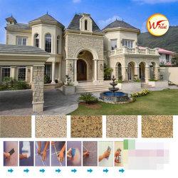 Novo revestimento do Prédio 5D de imitação de Pedra Natural de Pintura Pintura em Pedra Real pintura para pared