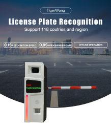 De Erkenning van de LEIDENE Nummerplaat van de Vertoning allen in Één Slim Systeem van het Parkeren