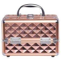 Mini portable Hotsale Train Maquillage professionnel de la beauté de l'aluminium de cas Cas